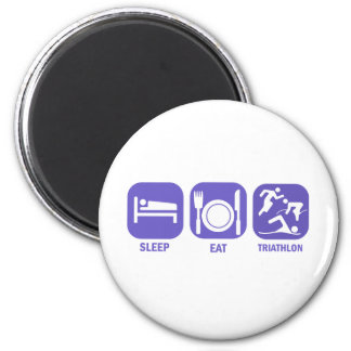 Eat Sleep Triathlon Magnet