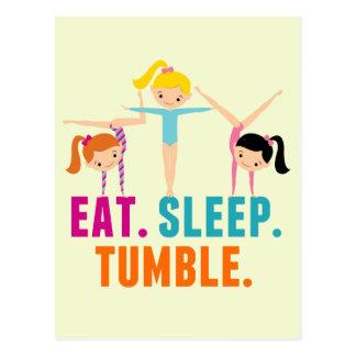Eat Sleep Tumble Gymnastics Postcard