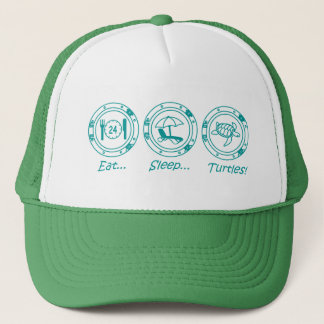 Eat Sleep Turtles! Trucker Hat