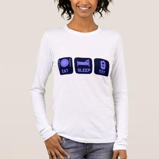 Eat Sleep Txt Long Sleeve T-Shirt