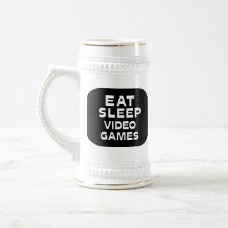 Eat Sleep Video Games 18 Oz Beer Stein
