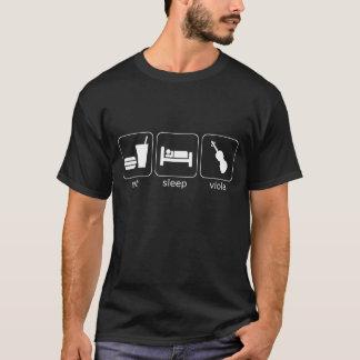 eat sleep viola - dark T-Shirt