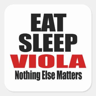 EAT SLEEP VIOLA SQUARE STICKER