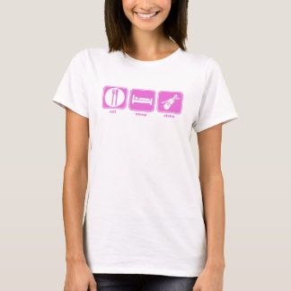 eat sleep violin pink T-Shirt