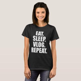 Eat Sleep Vlog Repeat T-Shirt