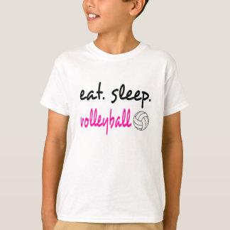Eat Sleep Volleyball Unisex Kids Tee
