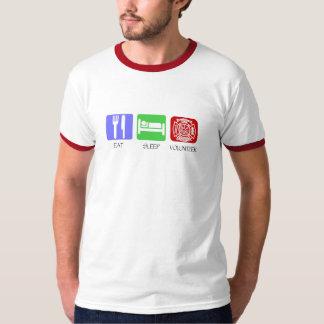 Eat Sleep Volunteer Fireman T-Shirt