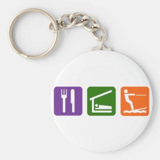 Eat Sleep Water Skiing Keychain