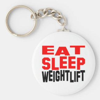 Eat Sleep Weightlift Keychain