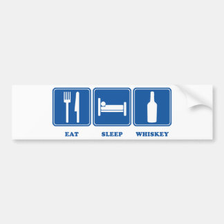 Eat Sleep Whiskey Bumper Sticker