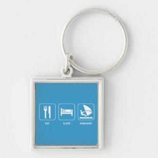 Eat Sleep Windsurf Keychain