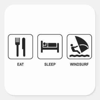 Eat Sleep Windsurf Sticker