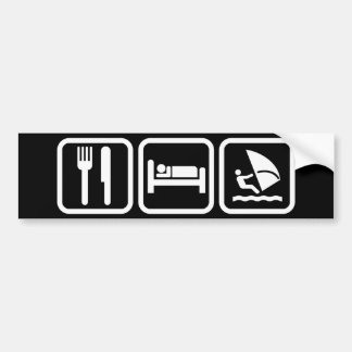 Eat Sleep Windsurfing Bumper Sticker