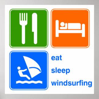 Eat Sleep Windsurfing Poster