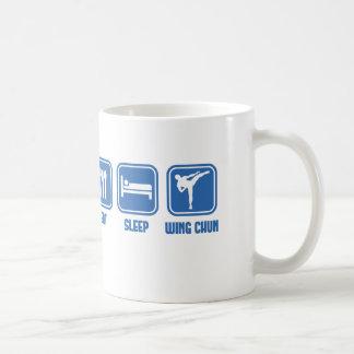 Eat Sleep Wing Chun Martial Arts cup gift idea Basic White Mug