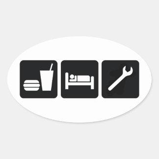 Eat Sleep Wrench Sticker