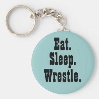 Eat. Sleep. Wrestle. Keychain