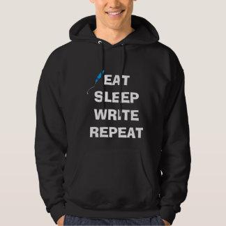 Eat Sleep Write Repeat Hoodie