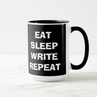 Eat Sleep Write Repeat Mug