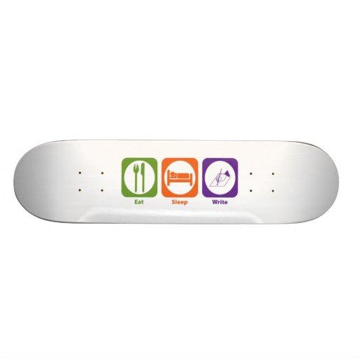Eat Sleep Write Skate Decks