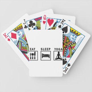 eat sleep yoga bicycle playing cards