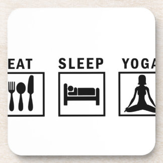 eat sleep yoga coaster