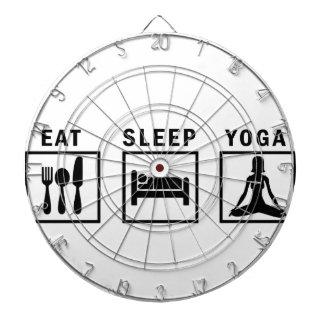 eat sleep yoga dartboard