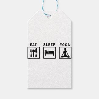 eat sleep yoga gift tags