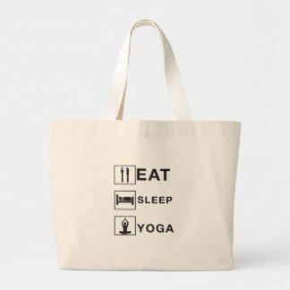 Eat Sleep Yoga Large Tote Bag