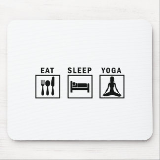 eat sleep yoga mouse pad