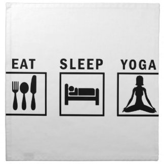 eat sleep yoga napkin