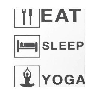 Eat Sleep Yoga Notepad