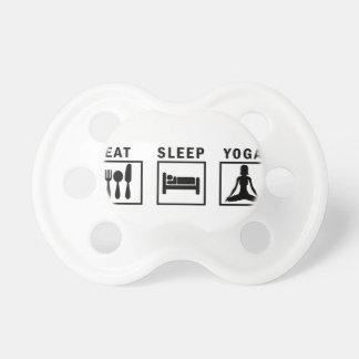 eat sleep yoga pacifier