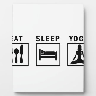 eat sleep yoga plaque