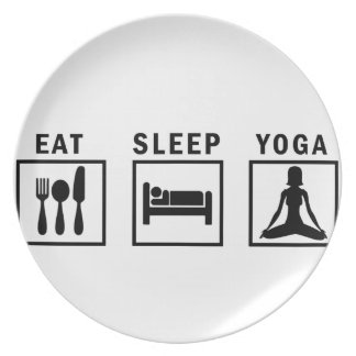 eat sleep yoga plate