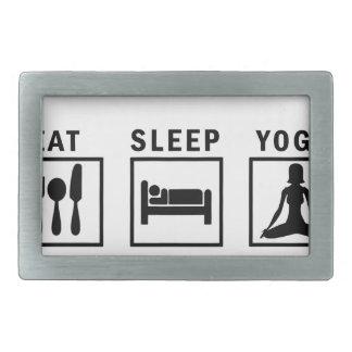 eat sleep yoga rectangular belt buckles