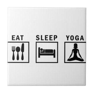 eat sleep yoga tile