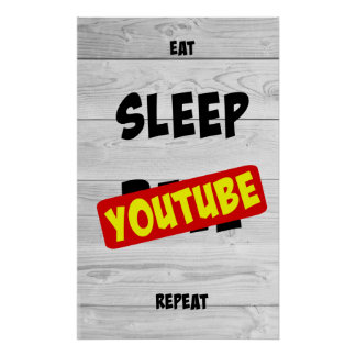 Eat, Sleep, Youtube, Repeat Poster