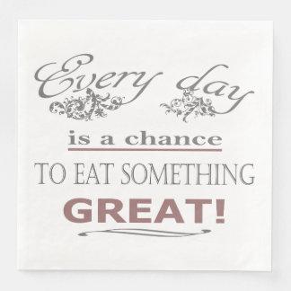 Eat Something Great Disposable Napkin