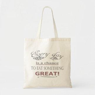 Eat Something Great Tote Bag