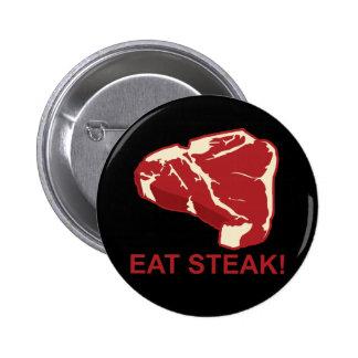 Eat STeak 2 Inch Round Button