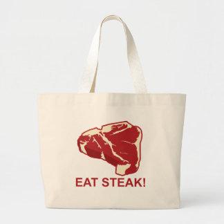 Eat STeak Jumbo Tote Bag