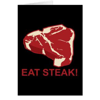 Eat STeak Greeting Card