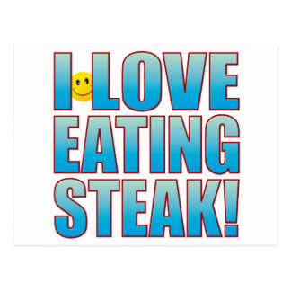 Eat Steak Life B Postcard