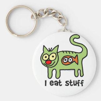 eat stuff keychain