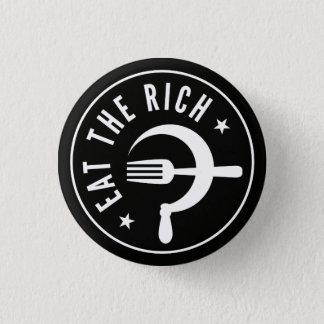 Eat the Rich Hammer & Sickle 1 Inch Round Button
