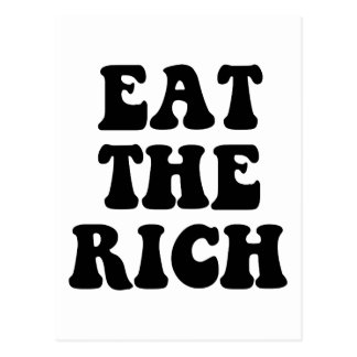 Eat The Rich Occupy Wall Street Postcard