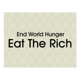 Eat The Rich Postcard