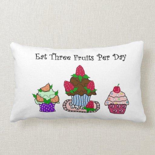 Eat Three Fruits Per Day Dessert Pillow