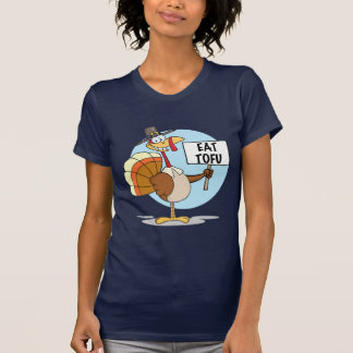 Eat Tofu (Thanksgiving) Ladies T-Shirt
